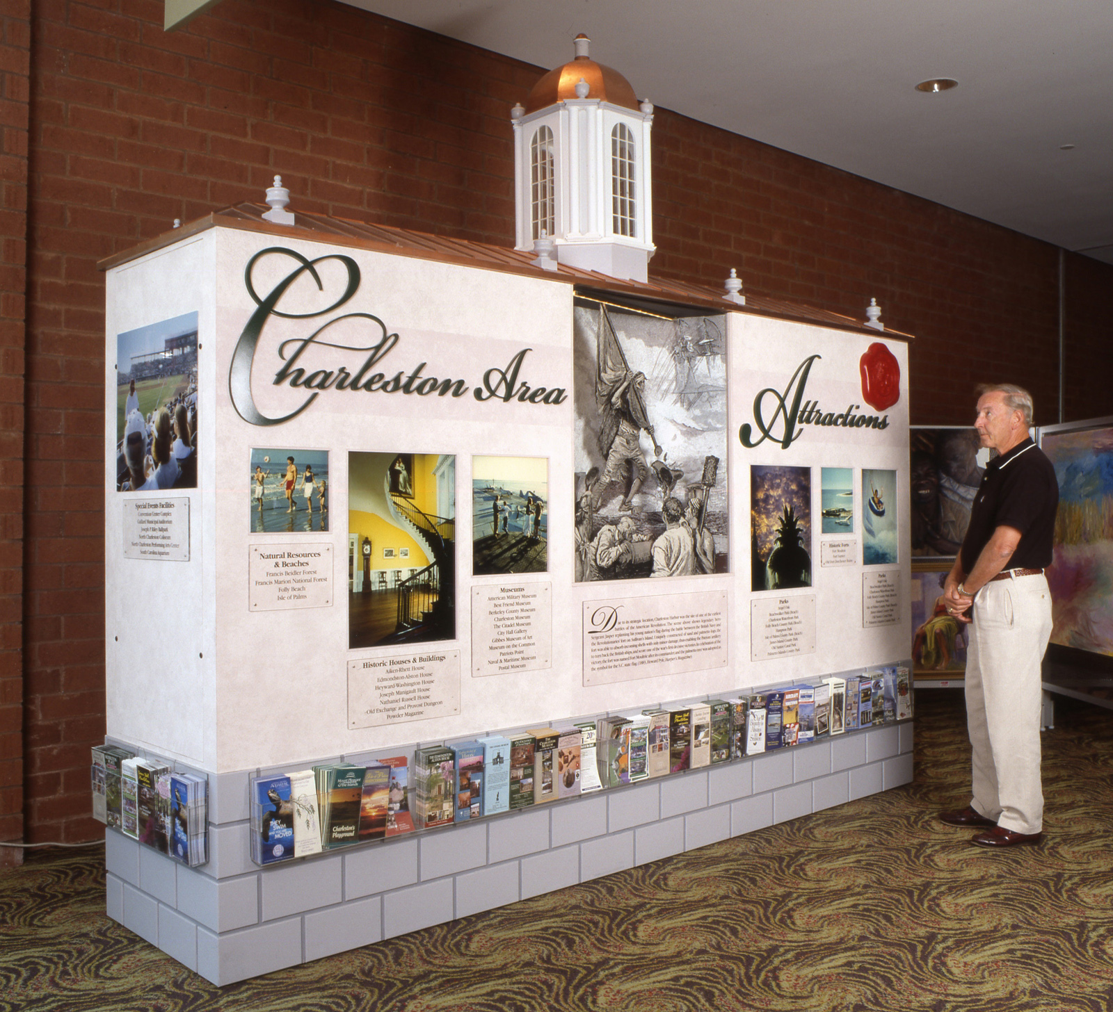 Charleston Visitor's Bureau display Performing Arts Center