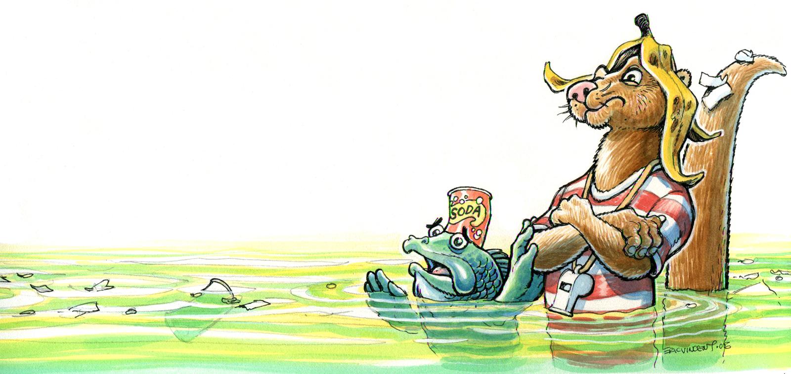 Carolina Clean Water Otter billboard
